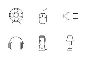 Home Electronics Line Black