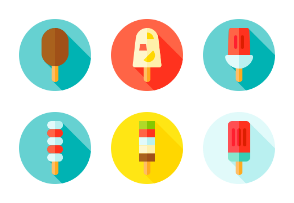 Ice pop with circle background (flat)