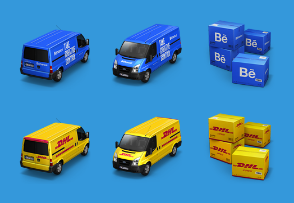 Antreposhop containers icon set 4