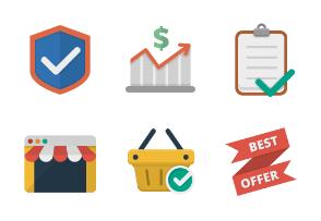Ikooni flat: Online Shopping