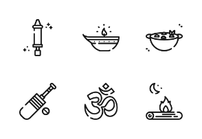India With Outline Iconset