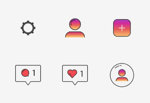 Instagram UI - Colored