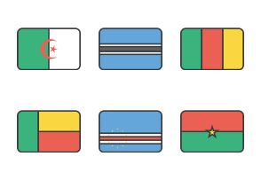 International Rounded Rectangle Flags