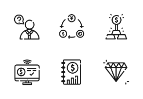 Investing Outline Iconset