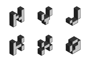 Isometric Letters