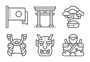 Japanese Culture - Line set