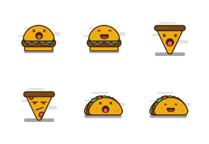 Junk Food Emoji Set