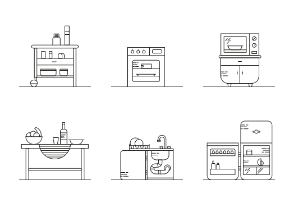 Kitchen furniture / outline