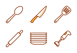 Kitchen utensils and cooking tools