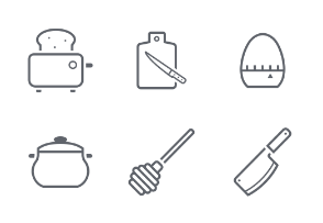 Kitchenware Outline Stroke