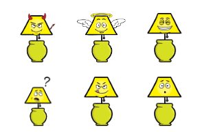 Lamp Emoji Cartoons