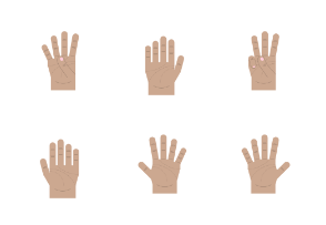 Light brown hand gestures