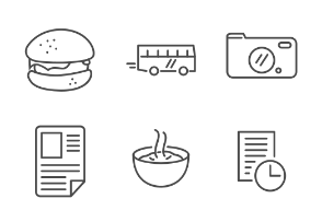 LineApp icons for mobile app