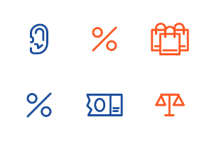 Loans and finance outline icon set