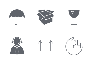 Logistics & Delivery Glyph