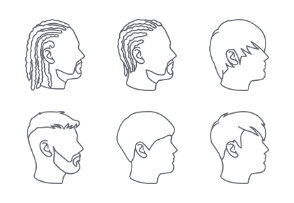 Male hairstyles outlines
