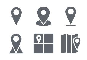 Map and Navigation Glyphs vol 1