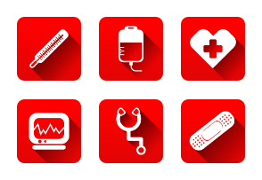 Medical And Healthcare Flat Icons Vector Set