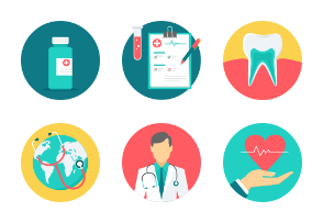 Medical Flat Icons Part-1