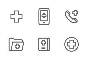 Medical Outline icons set