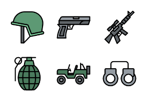 Military (Filled Line)