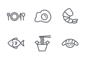 Mini icon set - Food