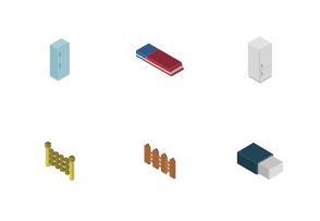 Miscellaneous isometric illustrations
