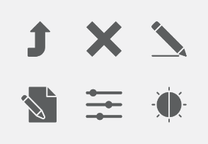 Mobile UI and UX Glyphs vol 1
