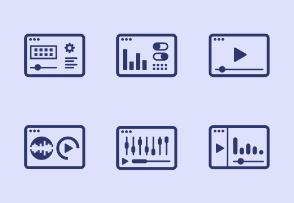 Modern set of digital symbols