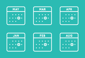Monthly Line Calendars