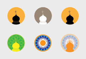 Mosque and islamic icons