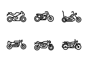 Motorcycle - Outline