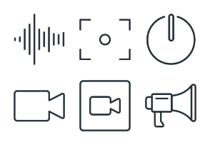 Multimedia - Stroke Icons