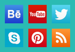 New social network icons