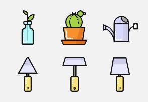 Ornametal plants filled