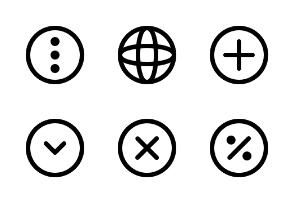 Outline Circle Basic UI Vol. 1