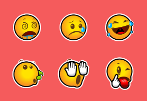 Outlined Emoticons