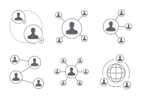 People Network And Connection