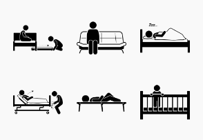 People Sleeping on Different Types of Bed Design