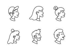 Person Avatar Line Style