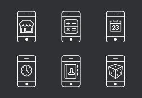 Phone Apps - Line set 1
