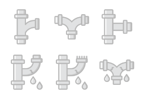 Pipes & Water Flow - Greyscale