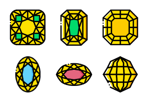 Precious Stones and Gems - Yellow