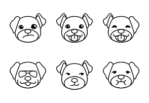 Puppy - BZZRICON Outline
