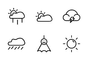 Rainy outline