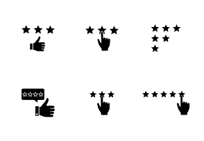 Rating. Glyph. Silhouettes
