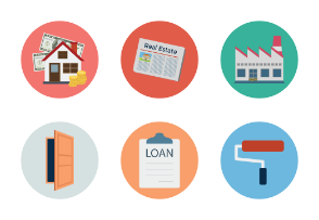 Real Estate Flat Icons Vol 1