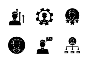 Resume. Glyph. Silhouettes