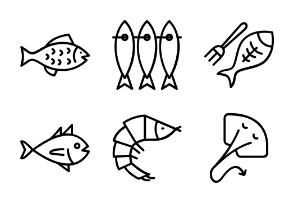 Sea food, lobster, shellfish, octopus