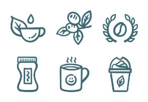 Set.01 Coffee Outline Doodle
